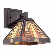 Stephen Wall Light in Vintage Bronze and Tiffany Glass - QUOIZEL QZ/STEPHEN1